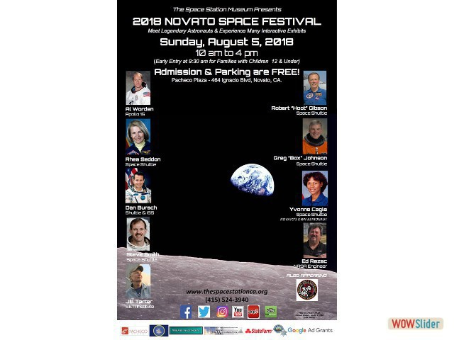 Get ready for the 2018 Novato Space Festival!