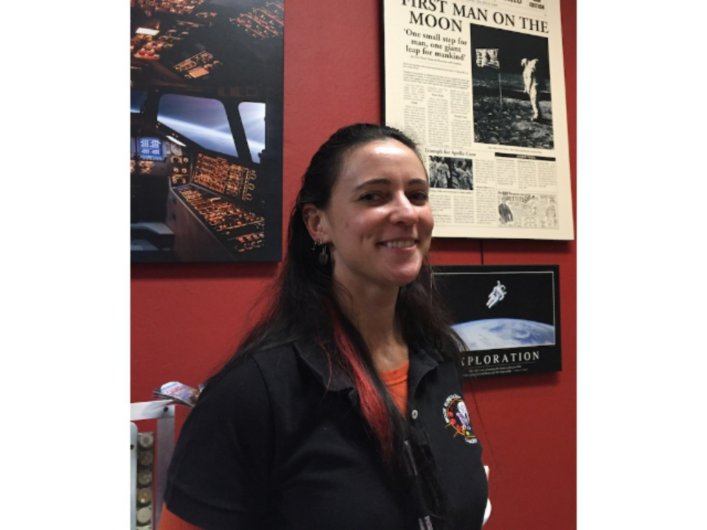 Dr. Georgiana Kramer, Planetary Geologist, visits The Space Station Museum