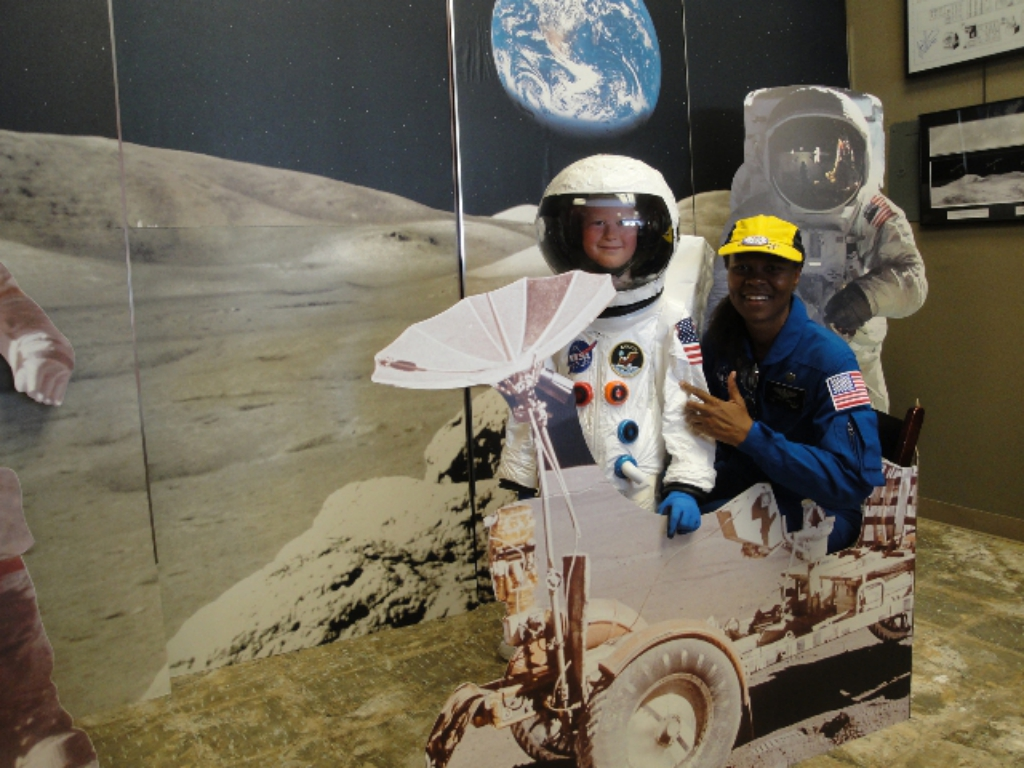 Yvonne Cagle with an up and coming astronaut