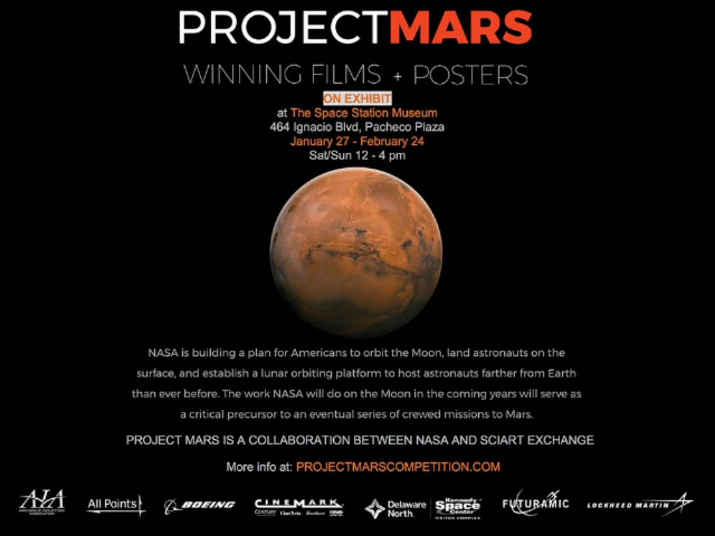 Come see the Project Mars Exhibit January 27 to February 24