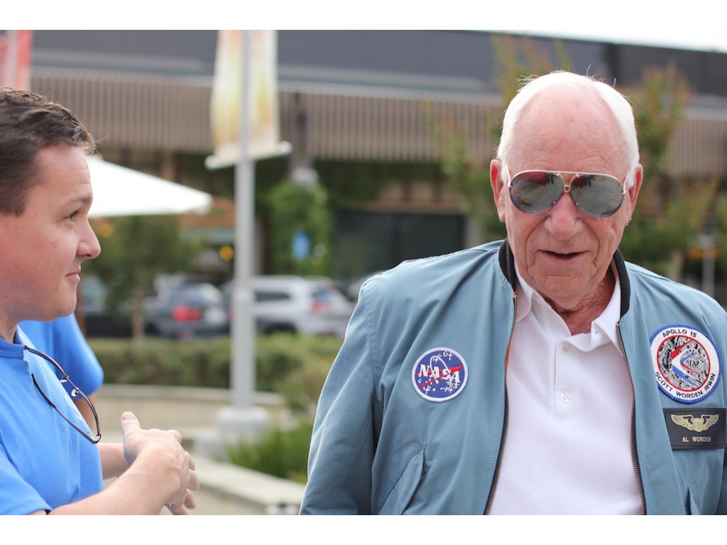 Astronaut Al Worden checking in