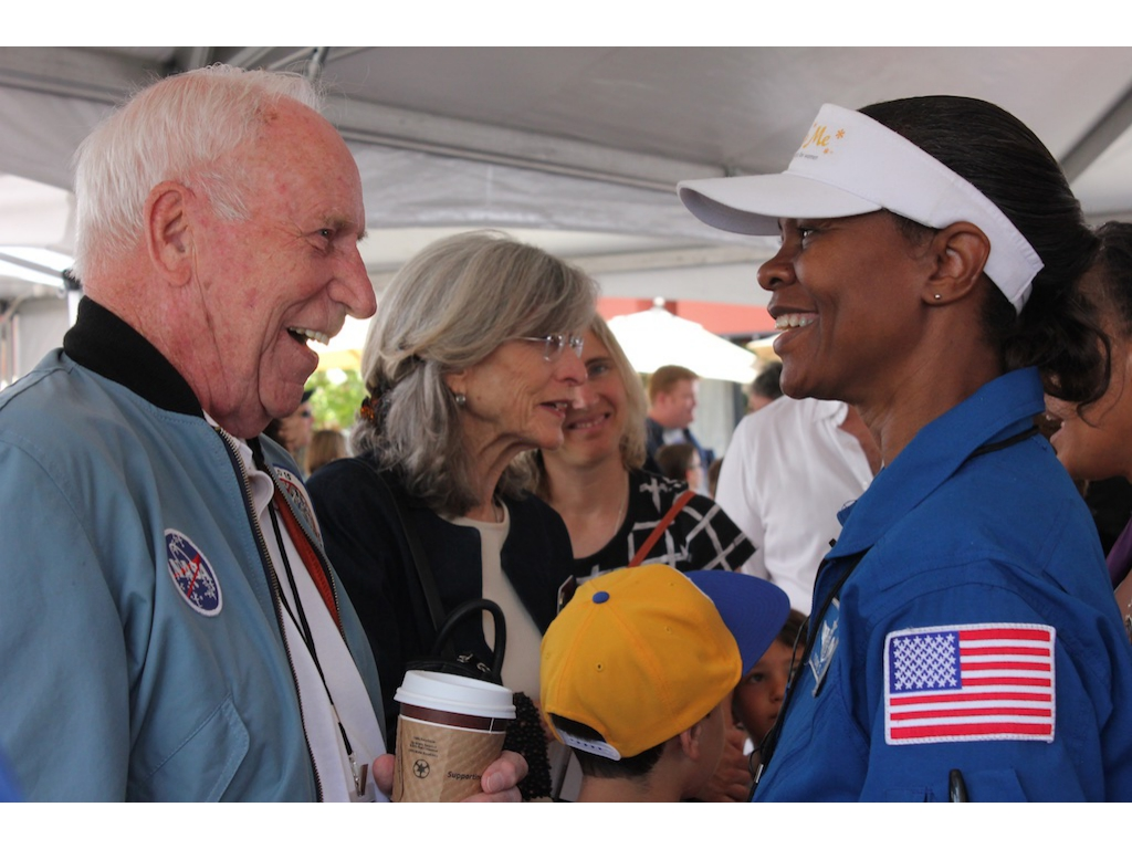 Astronauts Al Worden and Yvonne Cagle